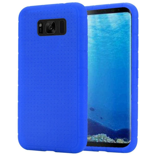 Insten Rugged Skin Rubber Case For Samsung Galaxy S8, Blue