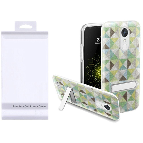 Insten Checker Hard Glitter TPU Case w/stand For LG Grace 4G/Harmony/K20 Plus/K20 V, Colorful