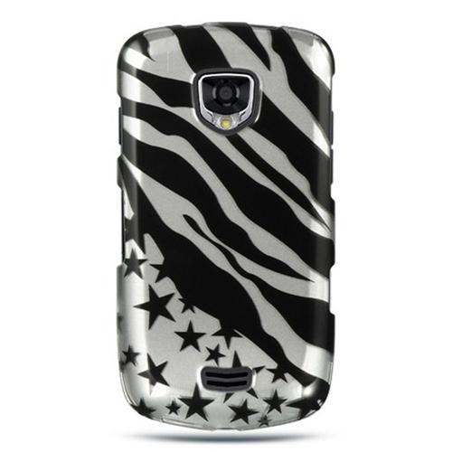 Insten Zebra/Star Hard Plastic Case For Samsung Droid Charge I510, Black/Silver