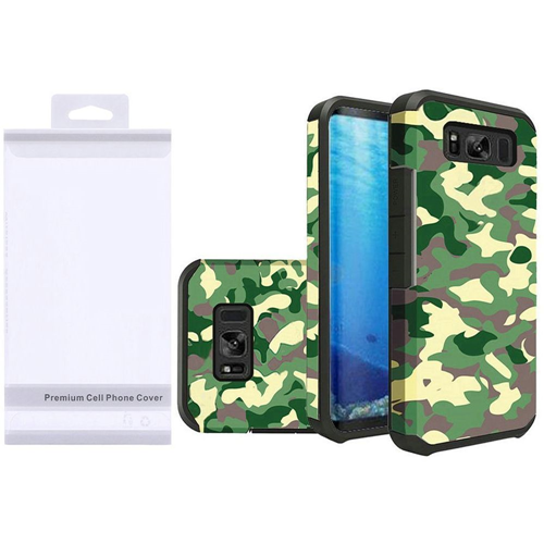 Insten Camouflage Hard Dual Layer Rubber Coated Case For Samsung Galaxy S8, Multi-Color