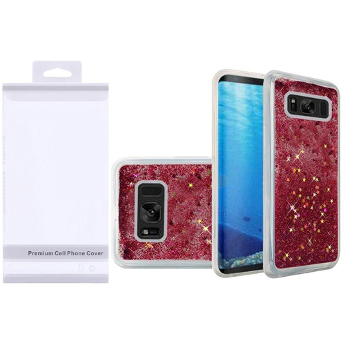 Insten Quicksand Hard Glitter TPU Case For Samsung Galaxy S8, Hot Pink