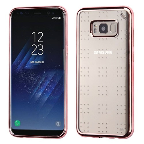 Insten Glitter Spots Gel Clear Case For Samsung Galaxy S8 Plus, Rose Gold