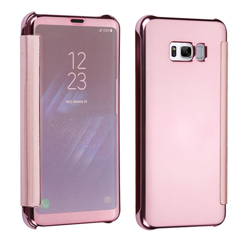 Insten Electroplating Plastic Hard Chrome Cover Case For Samsung Galaxy S8, Rose Gold