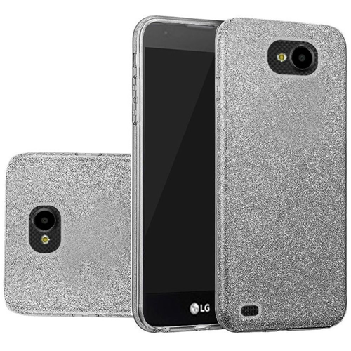Insten Hard Glitter TPU Case For LG X Venture, Smoke