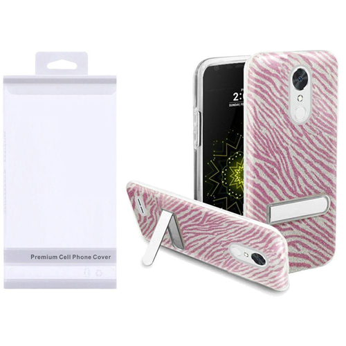 Insten Zebra Hard Glitter TPU Case w/stand For LG Grace 4G/Harmony/K20 Plus/K20 V, Colorful