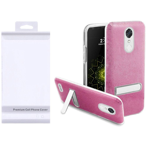 Insten Hard Glitter TPU Case w/stand For LG Grace 4G/Harmony/K20 Plus/K20 V, Rose/Clear