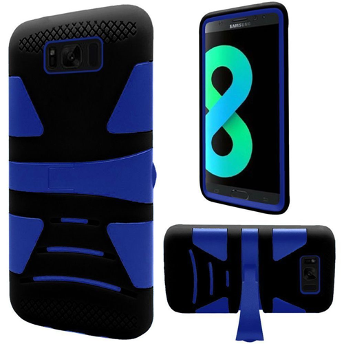 Insten Hard Dual Layer Plastic TPU Case w/stand For Samsung Galaxy S8 Plus, Blue/Black