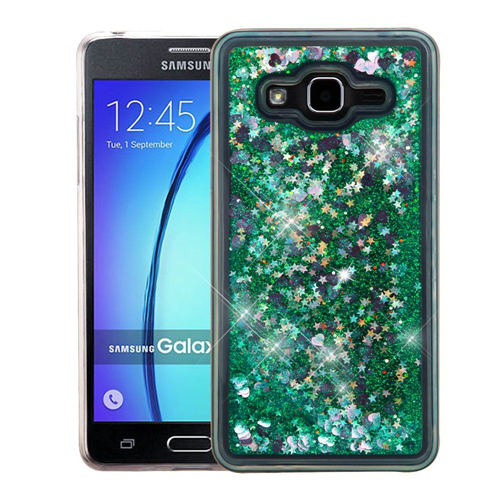 Insten Quicksand Hearts Hard Plastic TPU Case For Samsung Galaxy On5, Green