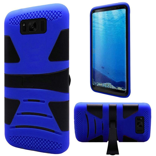 Insten Hard Hybrid Plastic TPU Cover Case w/stand For Samsung Galaxy S8, Black/Blue