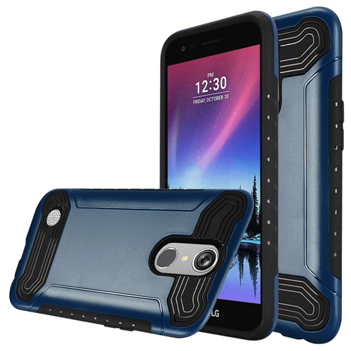 Insten Hard Dual Layer TPU Case For LG Grace 4G/Harmony/K20 Plus/K20 V, Blue/Black