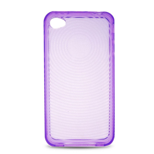 Insten Gel Clear Cover Case For Apple iPhone 4, Purple