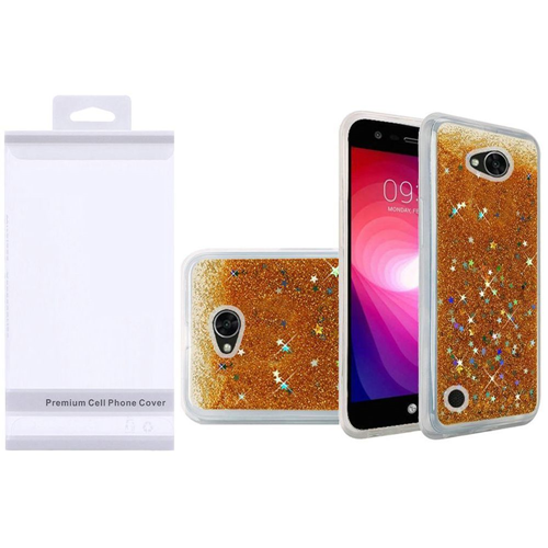 Insten Quicksand Hard Glitter TPU Case For LG Fiesta LTE/K10 Power/X Charge/X Power 2, Gold