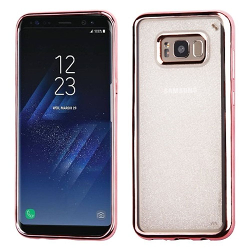 Insten Glitter TPU Cover Case For Samsung Galaxy S8 Plus, Rose Gold