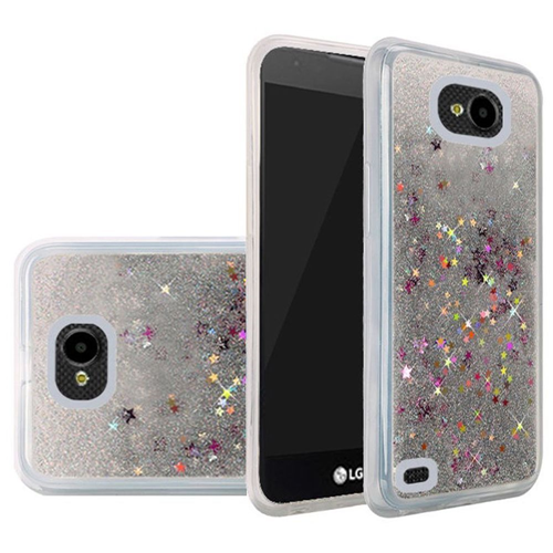 Insten Quicksand Hard Glitter Cover Case For LG X Venture, Silver