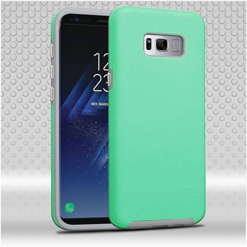 Insten Dotted Hard Dual Layer TPU Case For Samsung Galaxy S8 Plus, Teal