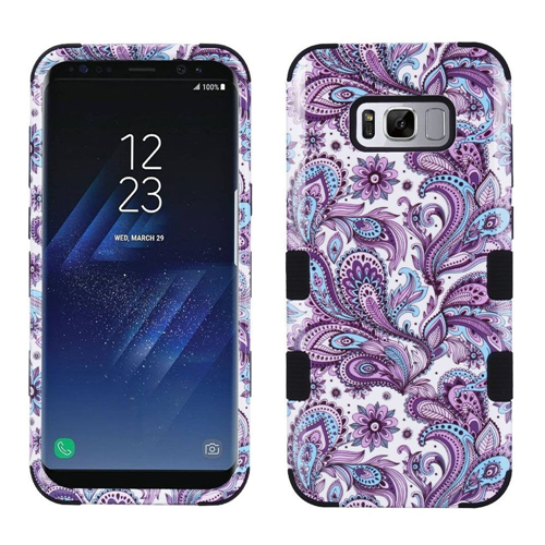 Insten Tuff European Flowers Hard Dual Layer Plastic TPU Case For Samsung Galaxy S8 Plus, Purple
