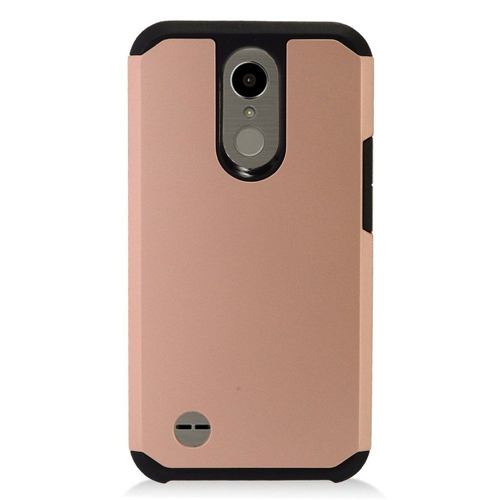 Insten Hard TPU Case For LG Harmony/K10 (2017)/K20 Plus/K20 V, Rose Gold/Black