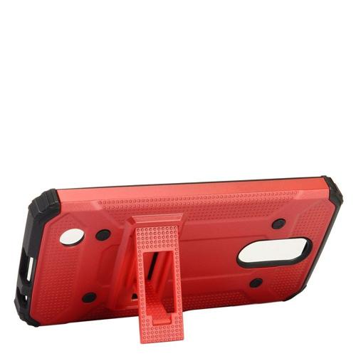 Insten Hard Hybrid TPU Cover Case w/stand For LG Harmony/K10 (2017)/K20 Plus/K20 V, Red/Black