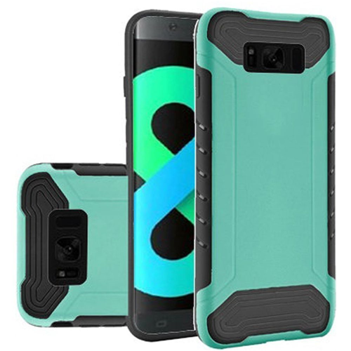 Insten Slim Armor Hard Hybrid Plastic TPU Cover Case For Samsung Galaxy S8 Plus, Teal/Black