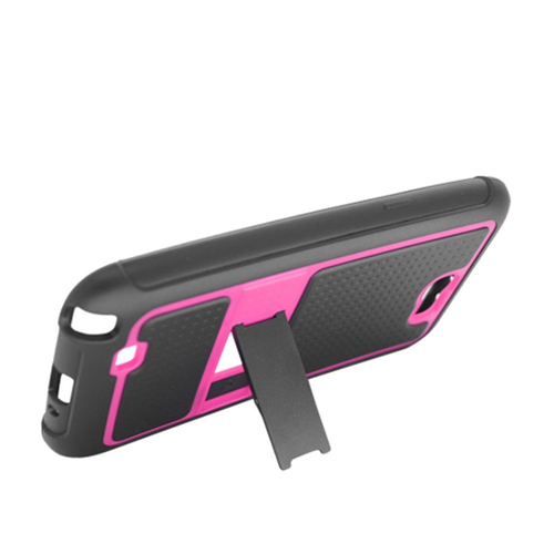 Insten Armor Hard TPU Case w/stand For Samsung Galaxy Note II, Black/Hot Pink