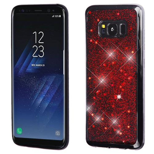Insten Starry Sky TPU Case For Samsung Galaxy S8 Plus, Red/Black