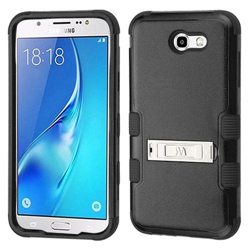 Insten Hard Dual Layer Plastic TPU Case For Samsung Galaxy J7 (2017)/J7 Perx/J7 Sky Pro/J7 V, Black