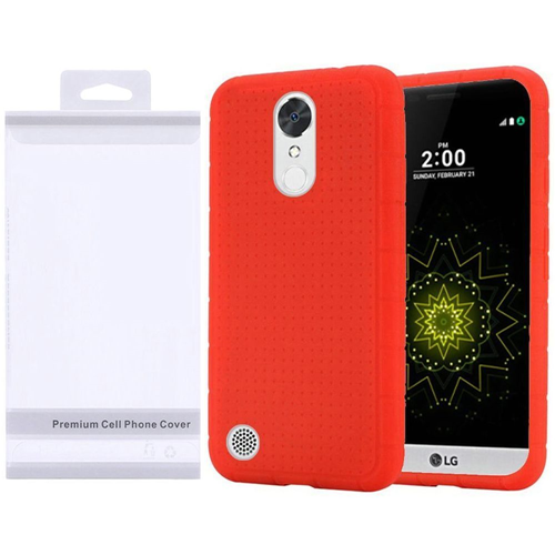 Insten Silicone Rubber Cover Case For LG Grace 4G/Harmony/K20 Plus/K20 V, Red