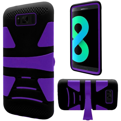 Insten Fitted Soft Shell Case for Samsung Galaxy S8 Plus - Black;Purple