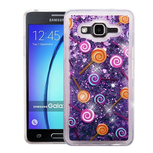 Insten Quicksand Lollipop Hard Plastic TPU Cover Case For Samsung Galaxy On5, Purple