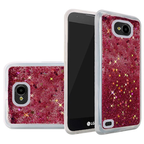 Insten Quicksand Hard Glitter Case For LG X Venture, Hot Pink