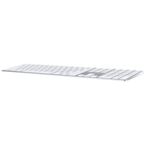 Apple Magic Keyboard Wireless Keyboard with Numeric Keypad - Silver/White - English