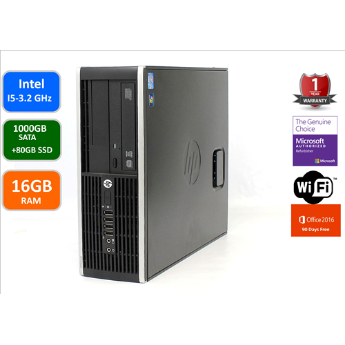 HP PRO 6300, INTEL I5-3470-3.2 GHZ, 16GB MEMORY, 1TB+80GBSSD DRIVE,DVDRW, WIN 10 PRO, WIFI,1 YEAR WARRANTY -REFURBISHED