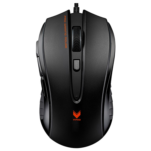 Rapoo V300 professional 7 buttons 4000dpi optical gaming mouse wired Onboard Memory gaming Mice_Black