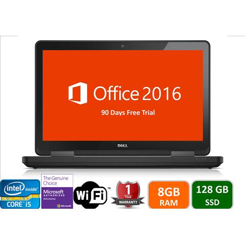 "Dell Latitude , Intel i5-4300U-1.9 Ghz, 8GB memory, 128GB SSD, 15"" Screen , Win 10 pro , DVDRW,1 year warranty -Refurbished"