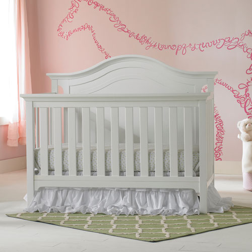 tiamo catania full panel solid wood 4in1 convertible crib snow white baby cribs best buy canada
