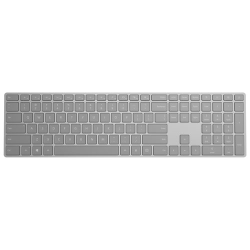 Microsoft Modern Bluetooth Keyboard with Fingerprint ID - Grey - English