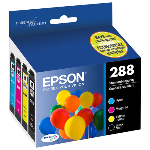 Epson DURABrite Colour Ink (T288120-BCS) - 4 Pack