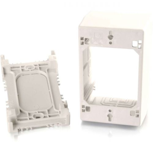 C2G Wiremold Uniduct Single Gang Extra Deep Junction Box - Fog White