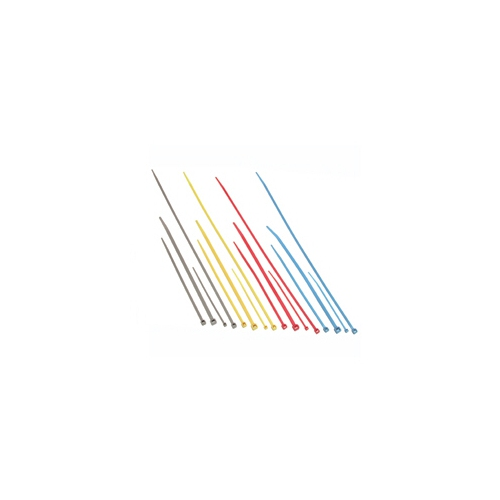 C2G 6in Nylon Cable Ties - Yellow - 100pk