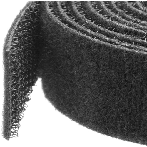 StarTech Hook-and-Loop Cable Management Tie - 25 ft. Roll - Black - Cut-to-Size Cable Wrap / Straps