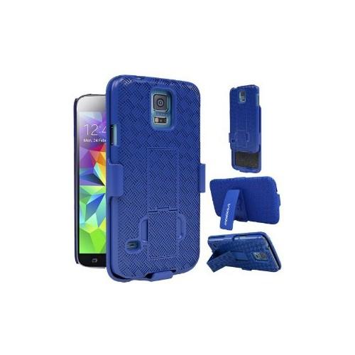 Samsung Galaxy S5 Hard Shell Belt Clip Case - Blue