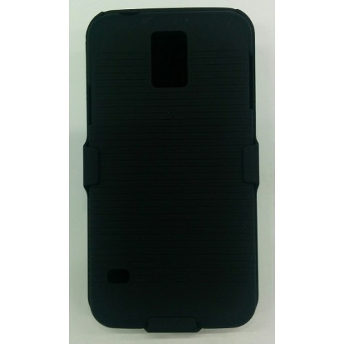 Samsung Galaxy S5 Hard Shell Belt Clip Case - Black