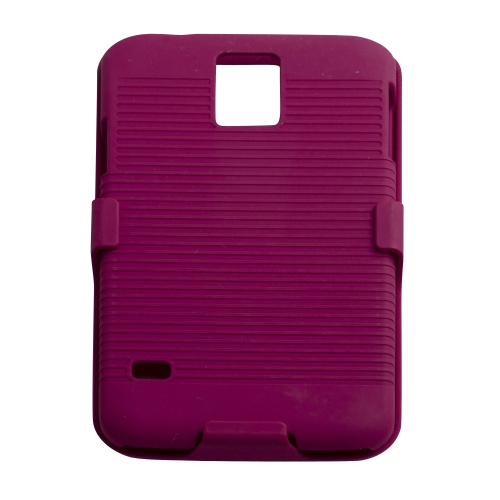 Samsung Galaxy S5 Hard Shell Belt Clip Case - Hot Pink