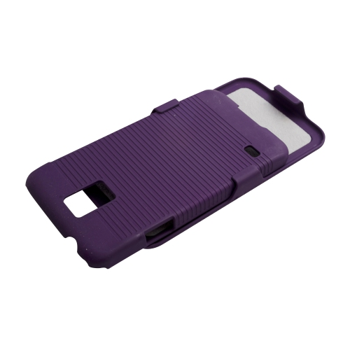Samsung Galaxy S5 Hard Shell Belt Clip Case - Purple