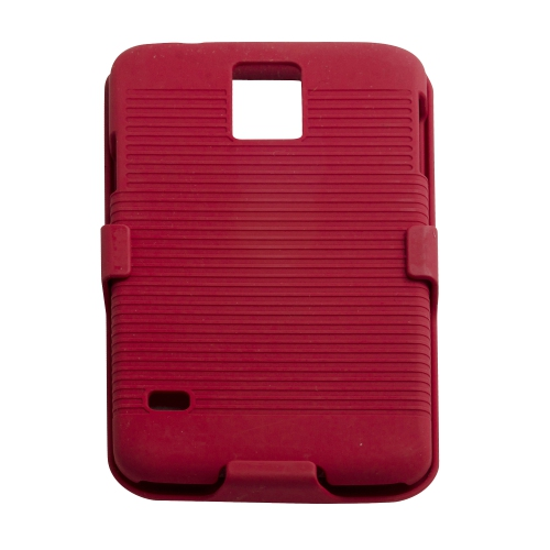 Samsung Galaxy S5 Hard Shell Belt Clip Case - Red