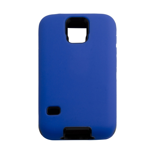 Samsung Galaxy S5 Hard Shell Dual Hybrid Case - Blue