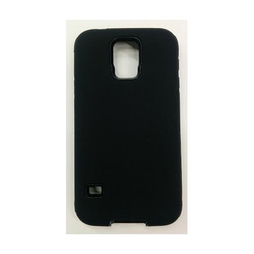 Samsung Galaxy S5 Hard Shell Dual Hybrid Case - Black
