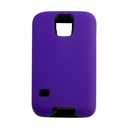 Samsung Galaxy S5 Hard Shell Dual Hybrid Case - Purple