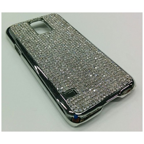 Samsung Galaxy S5 Diamond Bead Back Cover - Silver
