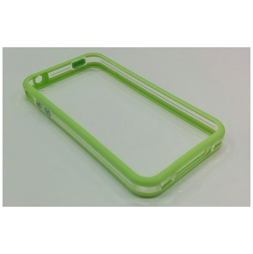 TPU Transparent Bumper Frame Silicone Skin Case Cover for iPhone 4 / 4S - Green